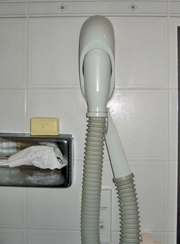 One of the fine hair dryers I came across in France.